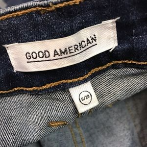 Good American Jeans - Good America Good Straight Athletic Stripe Jeans
